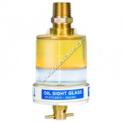 "Oil Sight Glass 3 oz X 1/4"" NPT"